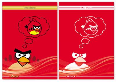 طرح لایه باز جلد دفتر شامل دو فایل angry birds